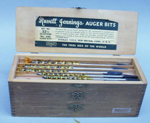 13 Piece Stanley Russell Jennings Auger Drill Bit Se