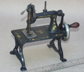 American Gem TSM / Travel Size / Child-Size Antique Toy Treadle Sewing Machine