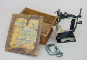 Antique Smith & Egge Automatic Toy Sewing Machine / TSM in the Box