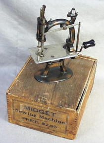 Midget Toy / Travel Size / Child-Size Antique Sewing Machine